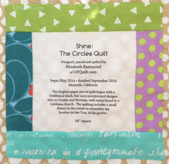 7shinecirclesquilt_label