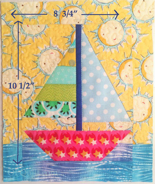 Tiny Sailboat Quilt_cut to size