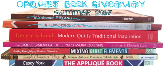 OPQuilt Summer 2017 Book Giveaway