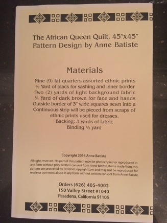 African Queen Pattern_back