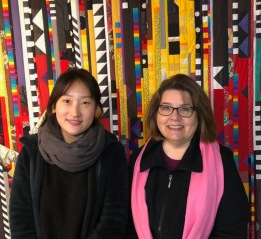 Jeehye and I, in front of Porcella's quilt.
