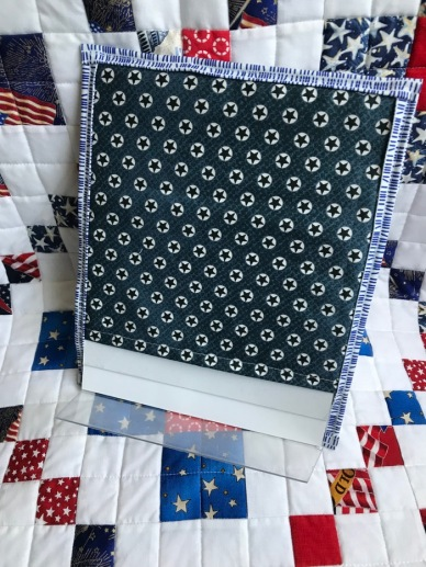 Fourth July Tiny Quilt_back