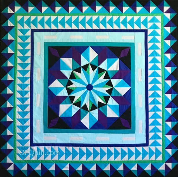 Northern Star Quilt Top