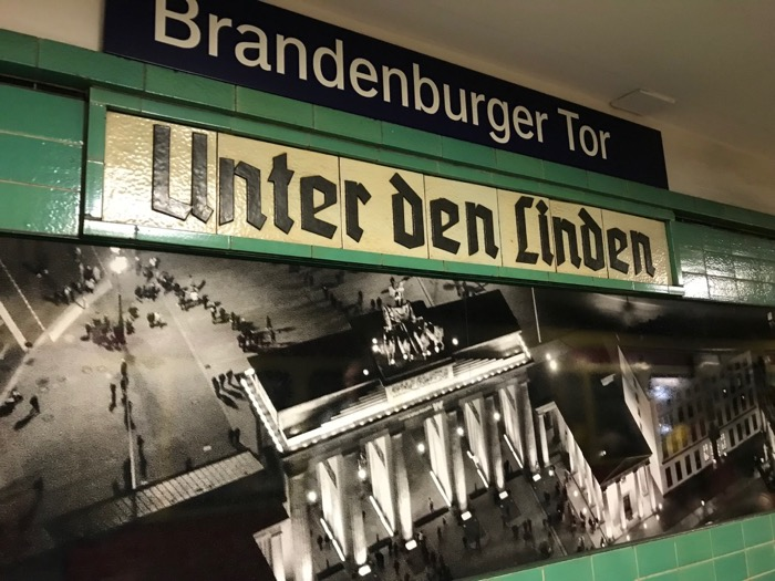 Berlin Brandernberger Tor Station