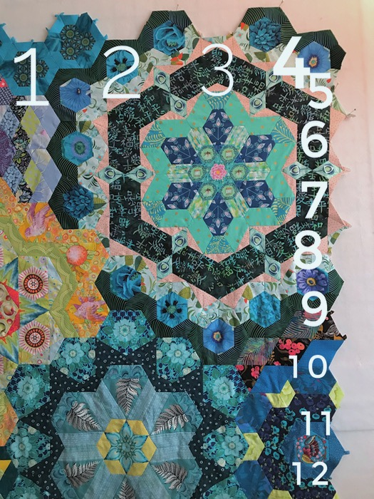Millefiore numbering cutouts