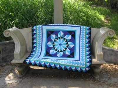 Northern Lights Medallion on bench