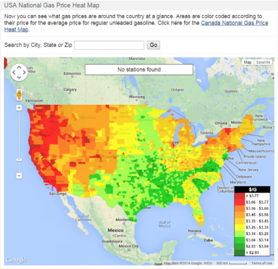 heat map_natural gas prices