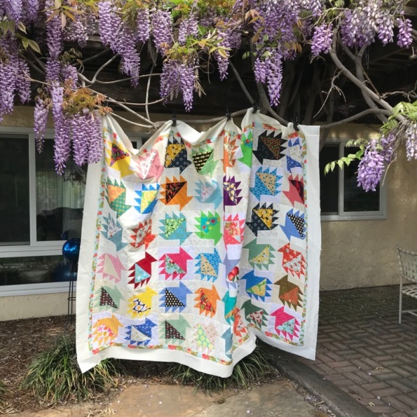 Baskets of Food quilt top