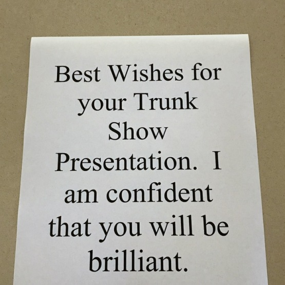 Best Wishes on Trunk Show