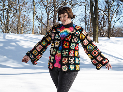crocheted jacket