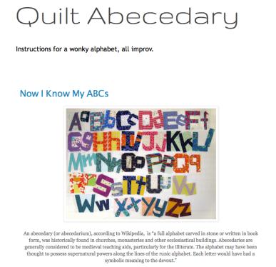 Quilt Abecedary New 2019