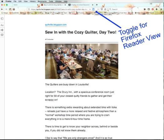 Reader View Firefox1