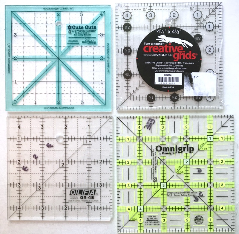 Small Square Rulers