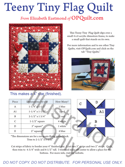 Teeny Tiny Flag Quilt Illustration