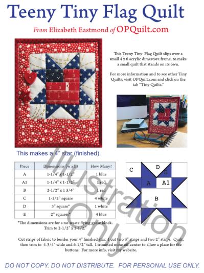 Teeny Tiny Flag Quilt Illustration