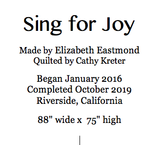 Sing for Joy label screenshot