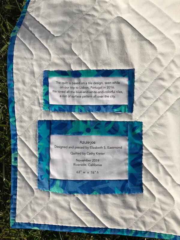 Azulejos Quilt_6 label