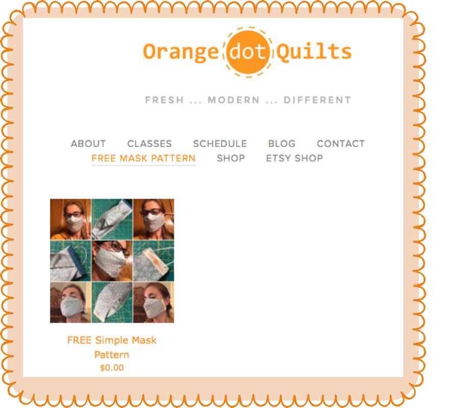 Face Mask Orange Dot Quilts