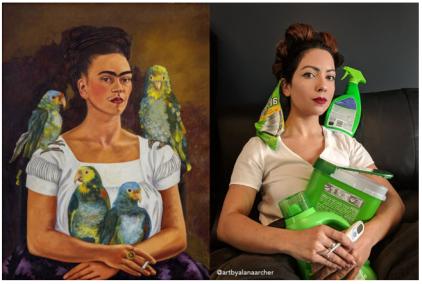 Art Imitation Frida Kahlo