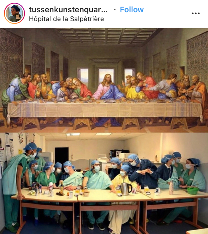 Art imitation Last Supper
