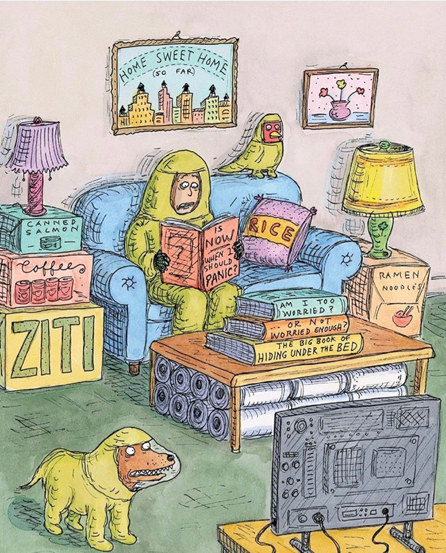 Roz Chast Cartoon April 2020 COVID