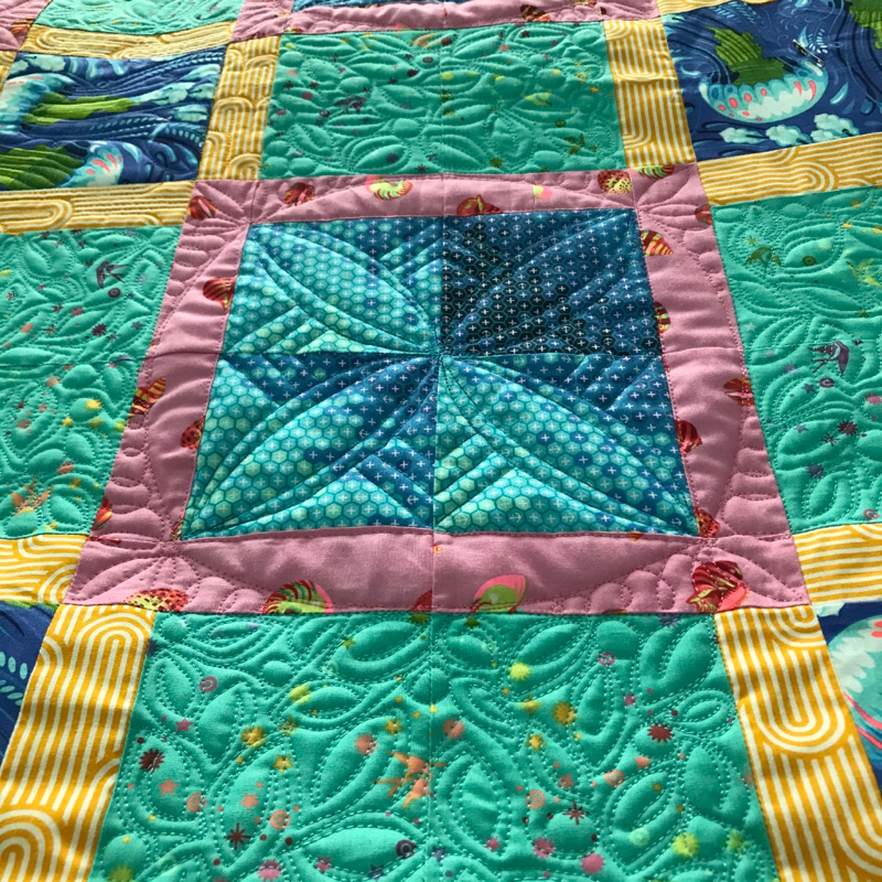 City Streets Vivid_quilting