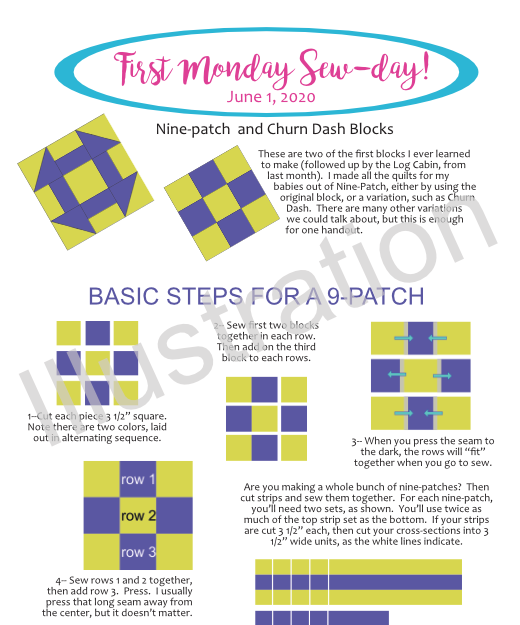 June 2020 FirstMonday Sew-Day Illus