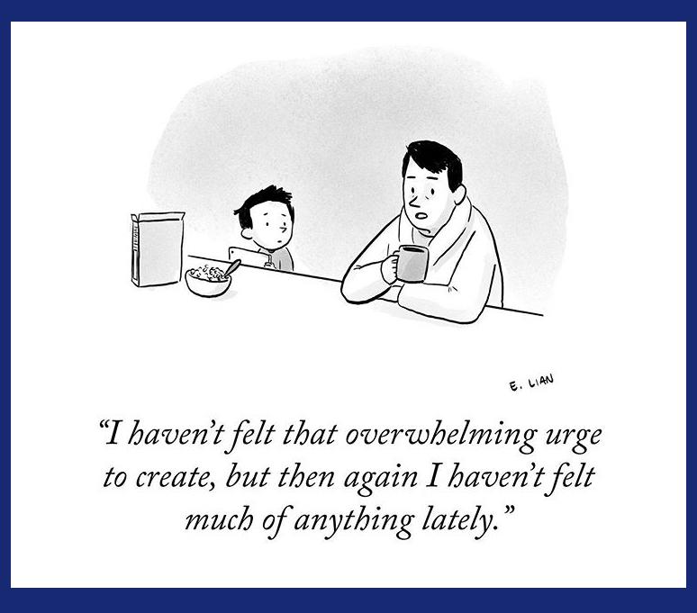 Urge to create is gone cartoon