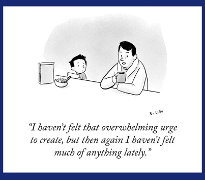 Urge to create is gone cartoon